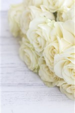 White roses, bouquet, flowers