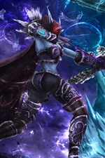 Preview iPhone wallpaper World of Warcraft, Lich King, archer, monster