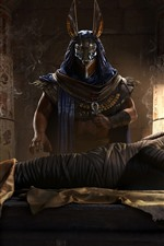 Preview iPhone wallpaper Assassin's Creed: Origins, Egypt, pharaoh, mummy