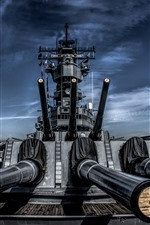 Preview iPhone wallpaper Battleship, guns