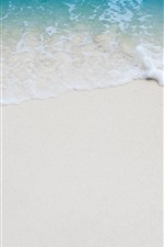 Beach, sea, foam, sands