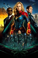 Preview iPhone wallpaper Captain Marvel, DC comics movie