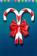 Preview iPhone wallpaper Christmas candy, colorful holiday lights, vector design