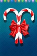 미리보기 iPhone 배경 화면 크리스마스 사탕, 화려한 휴가 조명, 벡터 디자인