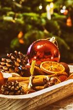 Christmas decoration, balls, candles