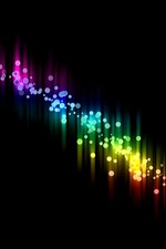 Preview iPhone wallpaper Colorful spectrum, black background, abstract picture