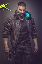 Cyberpunk 2077, man, gun