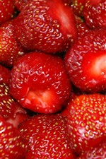 Delicious fruit, ripe strawberries