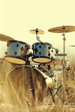 Drums, instrument, grass