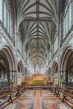 Lichfield Cathedral, interior, England