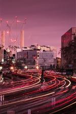 Londres, estação de comboios, linhas claras, cidade, edifícios, reino unido