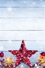 미리보기 iPhone 배경 화면 메리 크리스마스, 별, 딸기, 눈송이, 장식