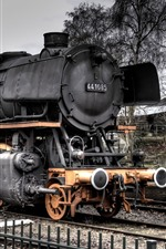 Preview iPhone wallpaper Old train, steam train