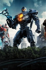 Preview iPhone wallpaper Pacific Rim: Uprising, some robots
