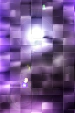 Quadrados roxos, luz, fundo abstrato