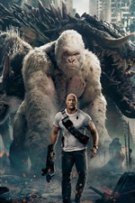Rampage, Dwayne Johnson, monster, wolf, orangutan