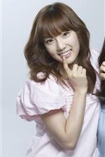 미리보기 iPhone 배경 화면 소녀시대, 두 한국어 소녀