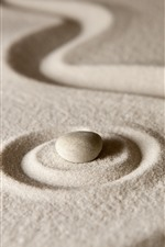 Preview iPhone wallpaper Sands, stone, still life