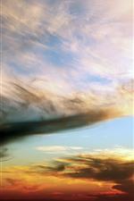 Sky, clouds, dusk