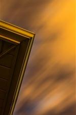 Preview iPhone wallpaper Sky, dusk, door