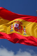 Preview iPhone wallpaper Spain flag, wind