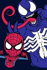 Preview iPhone wallpaper Spider-Man and Venom, DC comics