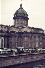 Preview iPhone wallpaper St. Petersburg, Kazan cathedral, river