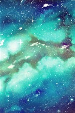 Starry, galaxy, blue background