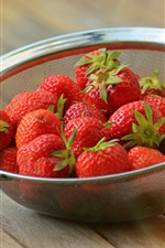 Strawberries, strainer