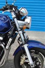 Suzuki GSX 1400 blue motorcycle