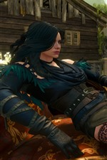 Preview iPhone wallpaper The Witcher 3: Wild Hunt, beautiful girl, video game