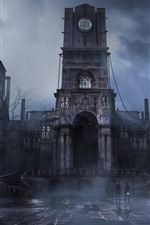 Preview iPhone wallpaper Thief, PS4 game, castle, fog