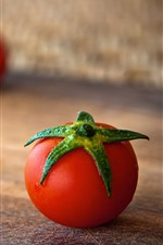 미리보기 iPhone 배경 화면 토마토, 우드 보드, 흐릿한