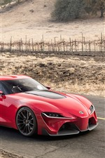 Toyota FT-1 red supercar
