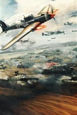 Preview iPhone wallpaper War Thunder, aircraft and tank