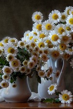 Preview iPhone wallpaper White chamomile, bouquet, vase