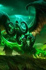 Mundo de Warcraft, chifres, asas, imagem de jogo de arte