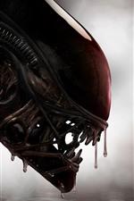 Alien, head, teeth, horror