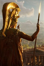 Preview iPhone wallpaper Assassin's Creed, Greece, palace, sunshine