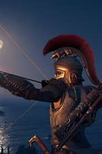 Preview iPhone wallpaper Assassin's Creed: Odyssey, archer, armor, fire arrow
