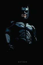Preview iPhone wallpaper Batman, superhero, art picture, black background