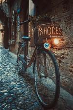 Bike, street, town