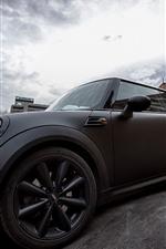 미리보기 iPhone 배경 화면 검은 미니 쿠퍼 자동차 측면보기