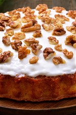 Cake, nuts, cream, carrots