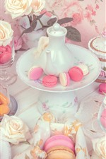 Cakes, roses, kettle