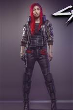 Cyberpunk 2077, garota ruiva