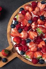 Delicious pie, berries, strawberry, blueberry