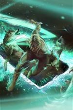 Gwent: O jogo de cartas Witcher, garota e lobo