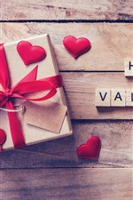 Happy Valentine's day, gift, love hearts
