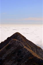 Preview iPhone wallpaper Italy, Carrega Ligure, mountain, clouds